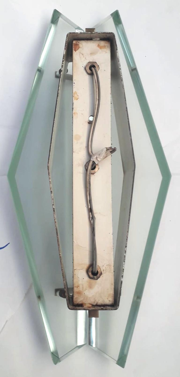 Italian Seven Model 1943 Sconces by Max Ingrand for Fontana Arte For Sale