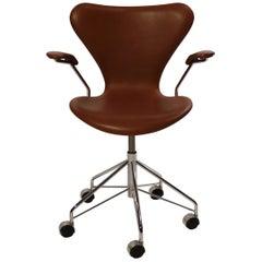 """Seven"" Office Chair, Model 3217, by Arne Jacobsen and Fritz Hansen"
