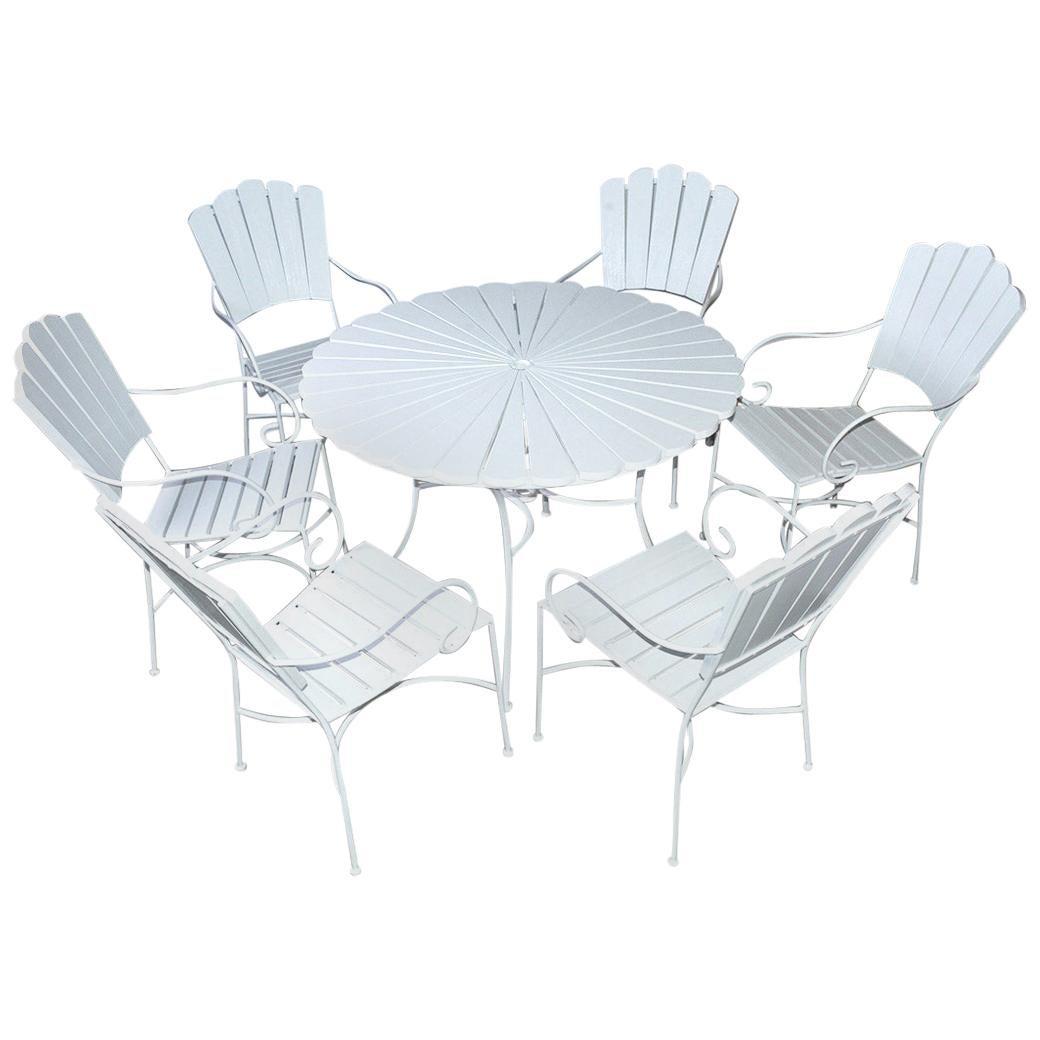 """Seven-Piece Outdoor Patio """"Petal' Dining Set"""
