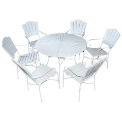 "Seven-Piece Outdoor Patio ""Petal' Dining Set"