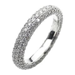 Seven-Row Pavé Diamond Ring