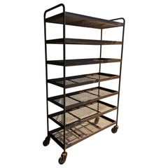 Seven Shelves Industrial Iron Wheeled Trolleys, Different Sizes Available