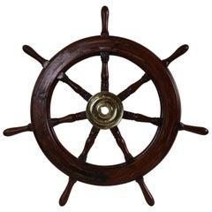 Seven Spoke Ships Wheel with Brass Hub