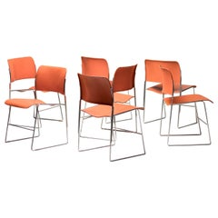 Seven Steel 40/4 Dining Chairs by David Rowland