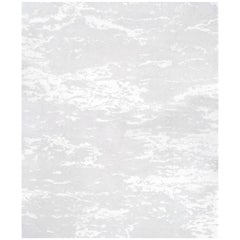 Seven White Hand Knotted Wool, Tencel and Aloe Rug 'Small-Size'