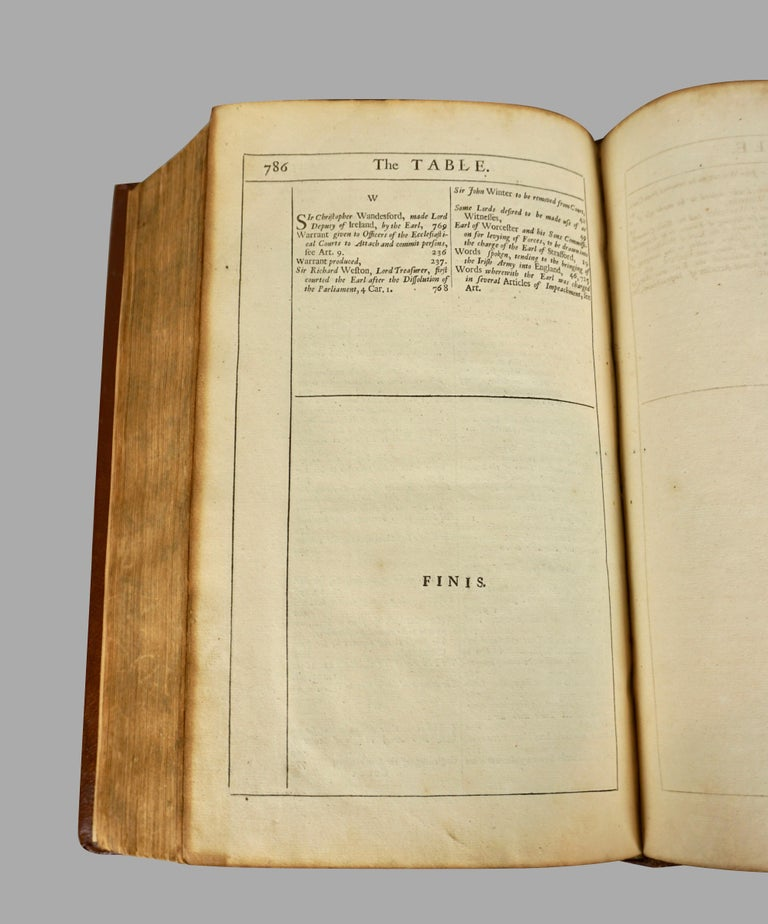 Seventeenth Century Original Leatherbound Book The Tryal of Thomas Strafford For Sale 4
