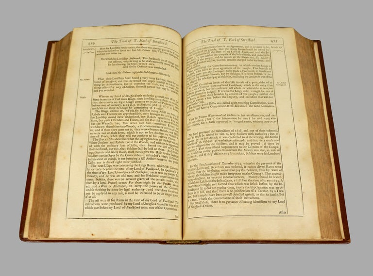 Seventeenth Century Original Leatherbound Book The Tryal of Thomas Strafford For Sale 2