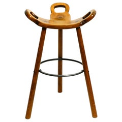 Seventies Spanish Marbella Bar Stool by Sergio Rodrigues for Confonorm