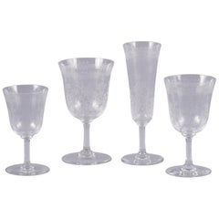 Seventy Piece Baccarat Glass Service, 20th Century