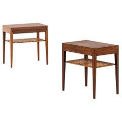 Severin Hansen Bedside / Side Tables Produced by Haslev Møbelsnedkeri in Denmark