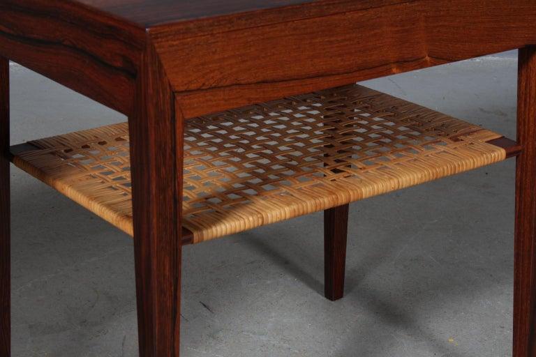 Scandinavian Modern Severin Hansen Bedside Tables by Haslev Møbelsnedkeri in Denmark