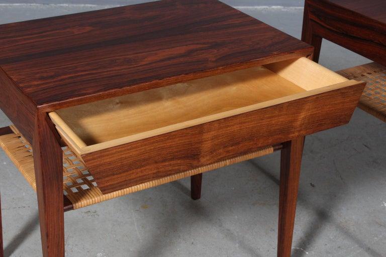 Severin Hansen Bedside Tables by Haslev Møbelsnedkeri in Denmark In Good Condition In Esbjerg, DK