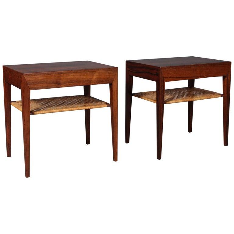 Severin Hansen Bedside Tables by Haslev Møbelsnedkeri in Denmark