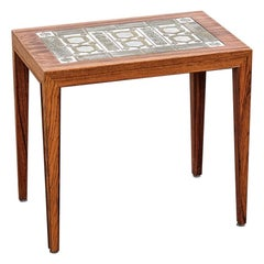 Severin Hansen Coffee Table with Ceramic Tile Top, 1960s