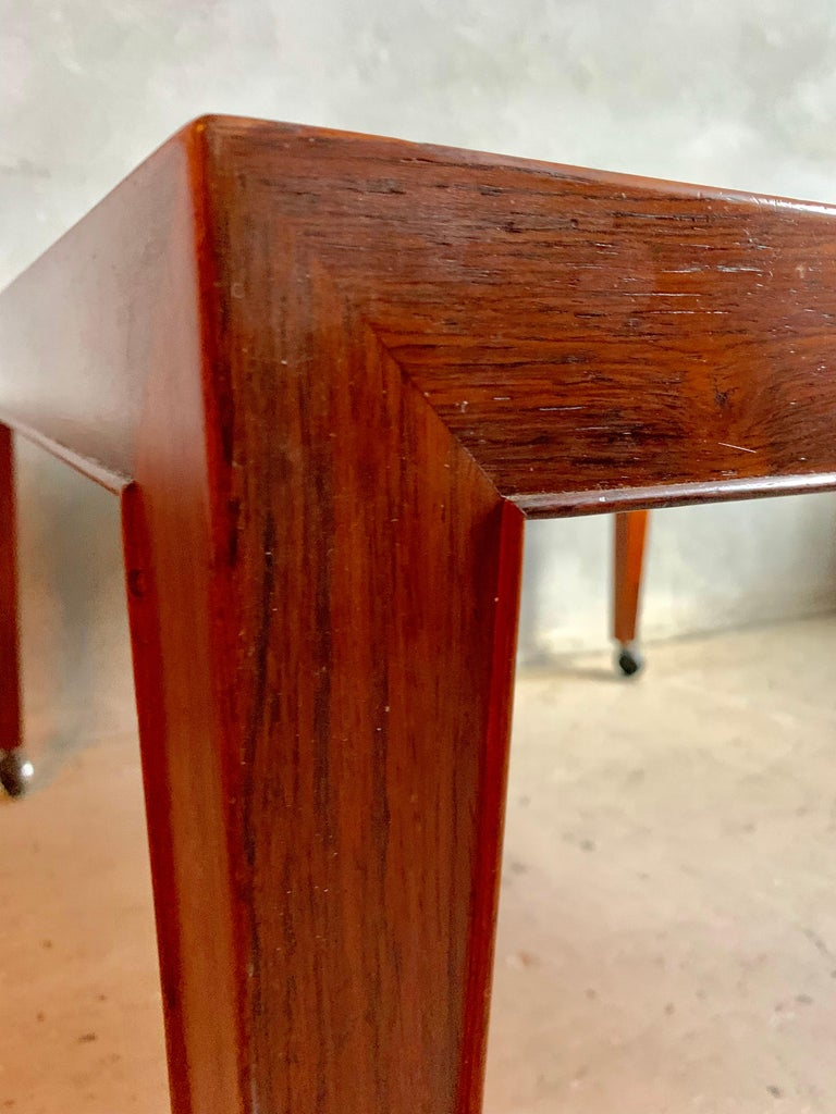 Mid-Century Modern Severin Hansen Jr. Baca Tile Top Coffee Table in Rosewood For Sale