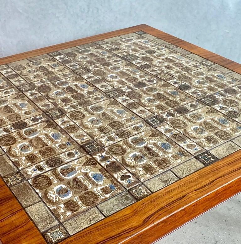 Danish Severin Hansen Jr. Baca Tile Top Coffee Table in Rosewood For Sale