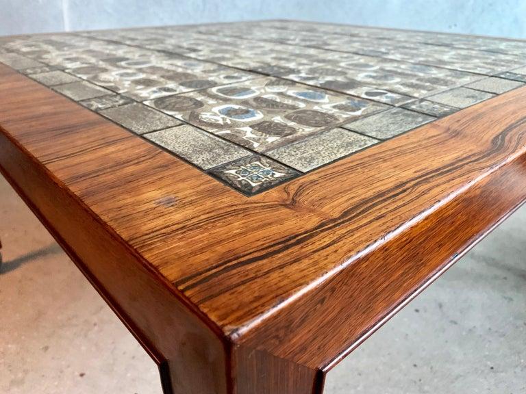Severin Hansen Jr. Baca Tile Top Coffee Table in Rosewood For Sale 1