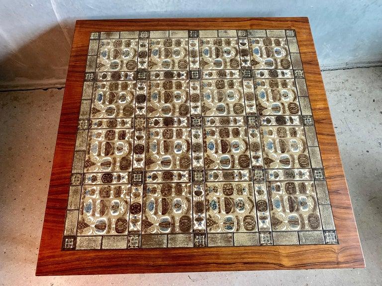 Severin Hansen Jr. Baca Tile Top Coffee Table in Rosewood For Sale 3