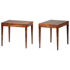 Severin Hansen Rosewood Bedside Tables, 1950s