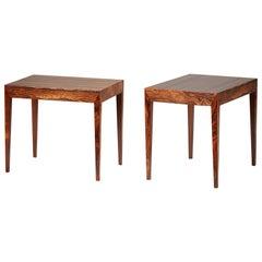 Severin Hansen Rosewood Bedside Tables, 1950s