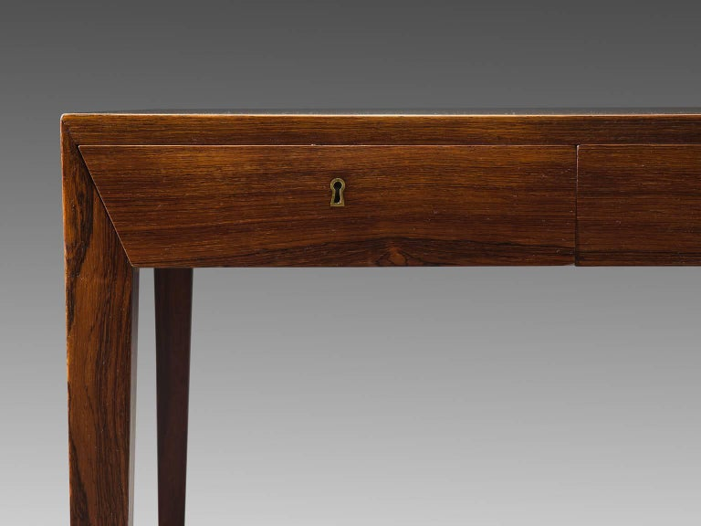 Severin Hansen Rosewood Desk by Haslev In Good Condition For Sale In Waalwijk, NL