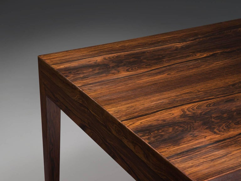 Severin Hansen Rosewood Desk by Haslev For Sale 2