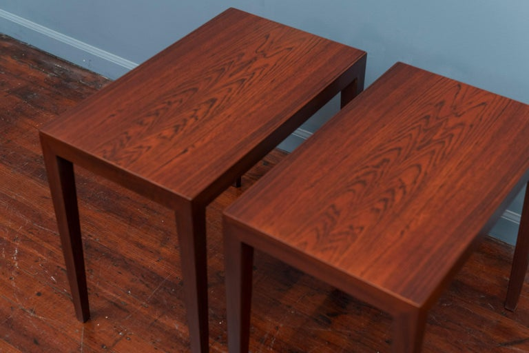 Severin Hansen Rosewood Side Tables for Haslev In Good Condition For Sale In San Francisco, CA
