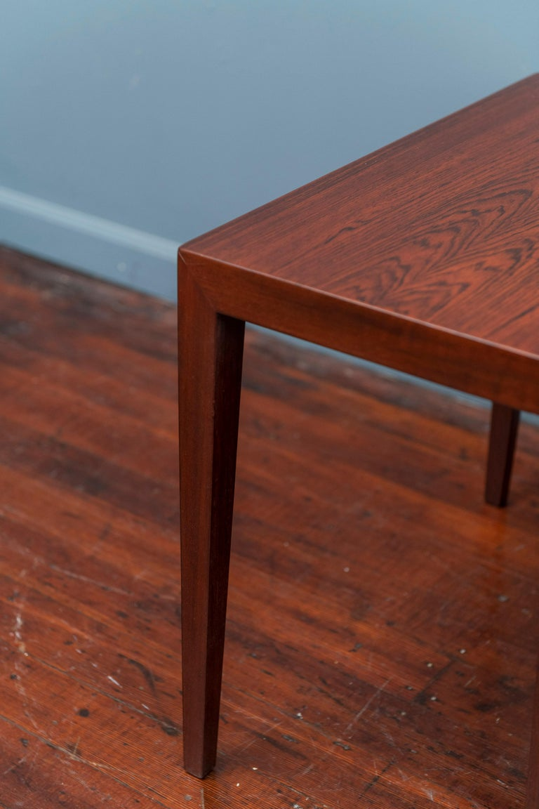 Mid-20th Century Severin Hansen Rosewood Side Tables for Haslev For Sale