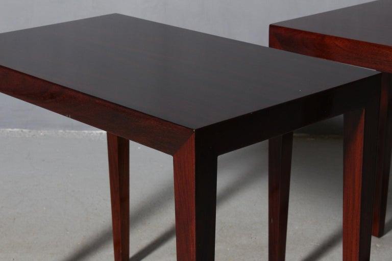 Scandinavian Modern Severin Hansen Set of Side Tables / Bed Side Tables For Sale