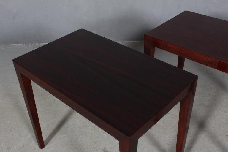 Danish Severin Hansen Set of Side Tables / Bed Side Tables For Sale
