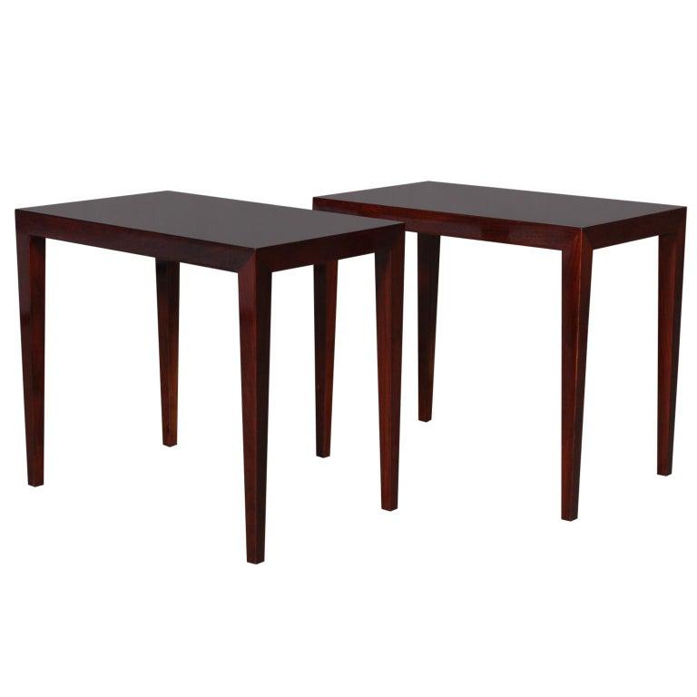 Severin Hansen Set of Side Tables / Bed Side Tables For Sale
