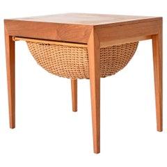Severin Hansen Sewing Table Teak Haslev Mobelsnedskeri, Denmark, 1960
