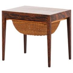 Severin Hansen Side Table by Haslev Møbelsnedkeri in Denmark