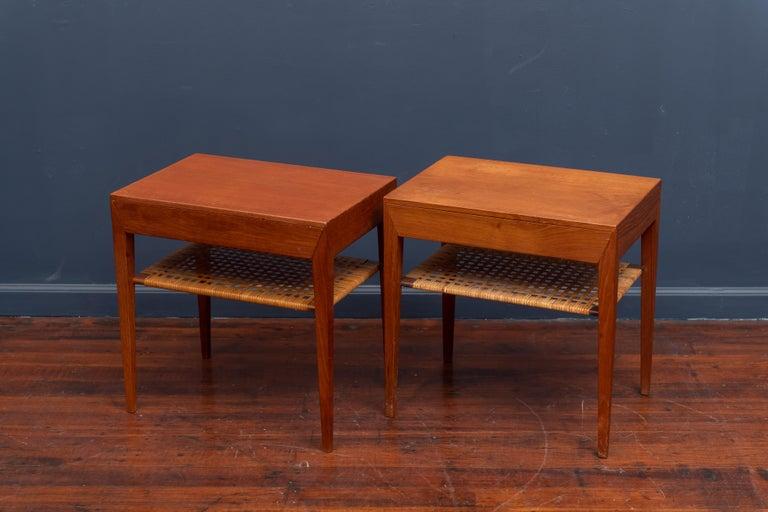 Scandinavian Modern Severin Hansen Teak Bedside Tables for Haslev For Sale