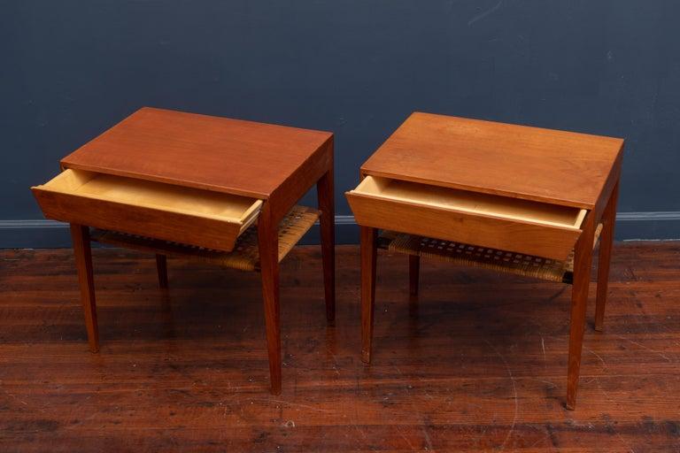 Danish Severin Hansen Teak Bedside Tables for Haslev For Sale