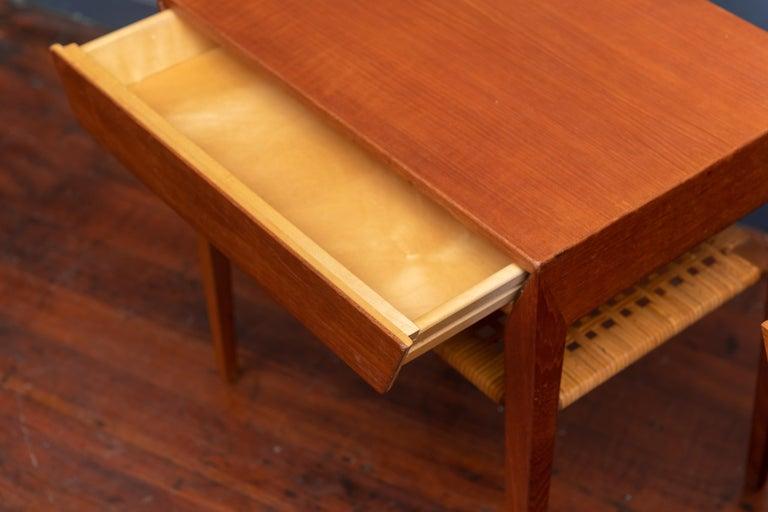 Severin Hansen Teak Bedside Tables for Haslev In Good Condition For Sale In San Francisco, CA