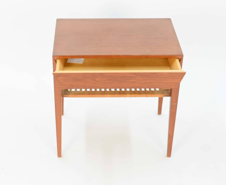 Scandinavian Modern Severin Hansen Teak Nightstand for Haslev Møbelsnedker of Denmark For Sale