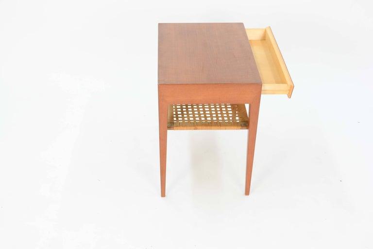 Danish Severin Hansen Teak Nightstand for Haslev Møbelsnedker of Denmark For Sale