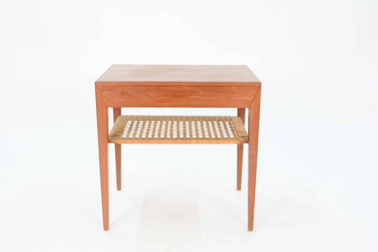 Mid-20th Century Severin Hansen Teak Nightstand for Haslev Møbelsnedker of Denmark For Sale