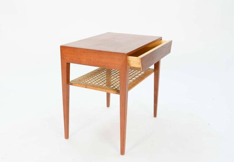 Severin Hansen Teak Nightstand for Haslev Møbelsnedker of Denmark For Sale 1