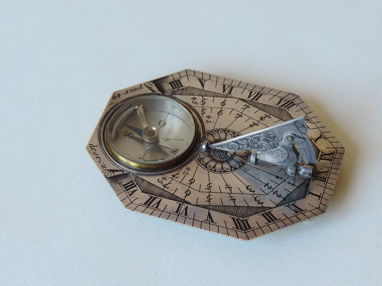 Louis XV Sevin Butterfied Dial Silver, French, 18th Century For Sale