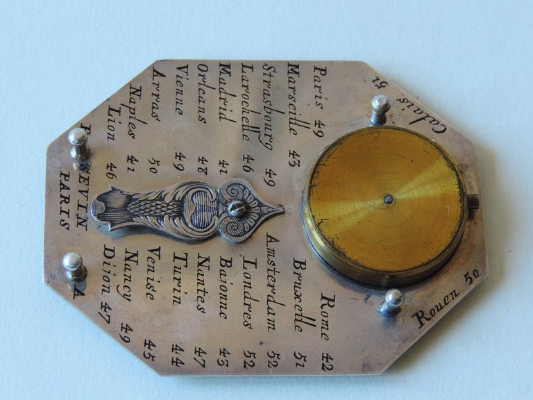 Carved Sevin Butterfied Dial Silver, French, 18th Century For Sale