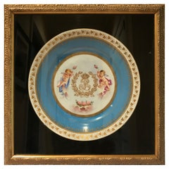 Sèvres 1844 Louis Phillippe Cabinet Plate Mounted in Display