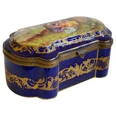 Sevres Ceramica Chest Rococo Style