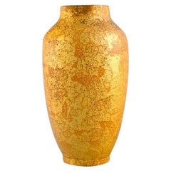 Sevres for Delvaux, Antique Vase in Ceramics with Gold Decoration, Approx. 1910
