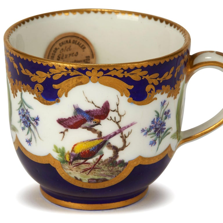 Sèvres French Porcelain Hand Painted and Gilded Teacup, circa 1752 For Sale 4