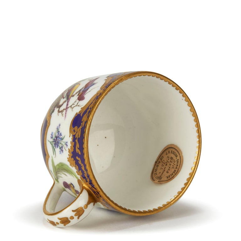 Rococo Sèvres French Porcelain Hand Painted and Gilded Teacup, circa 1752 For Sale