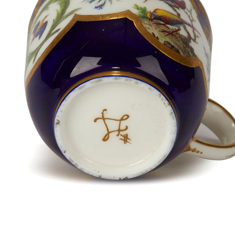 Sèvres French Porcelain Hand Painted and Gilded Teacup, circa 1752 In Good Condition For Sale In Bishop's Stortford, Hertfordshire