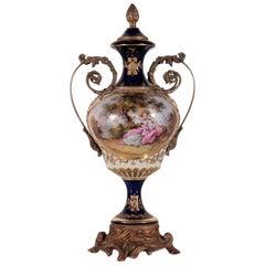 Sevres Manufacturing Vase Ceramic and Bronze, France, 20th Century