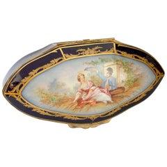 Sevres Porcelain Chest Romantic Scene 'Lux'